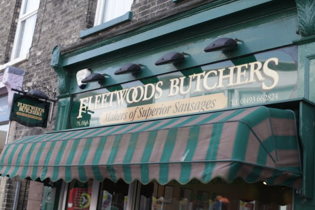A photo of fleetwoods butchers.
